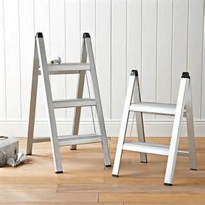 ultraslim aluminum step stool contemporary ladders and