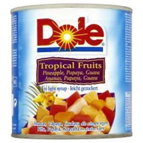 Tropical Fruit Cocktail Dole dole tropical fruit cocktail in light syrup