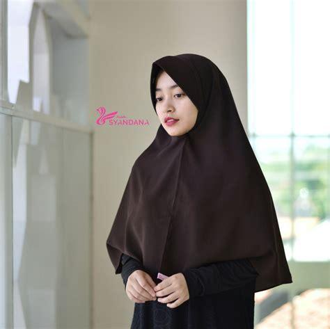 Murah Murah Daras Syari Maroon Mocca jual jilbab bergo murah syar i 5 syandana