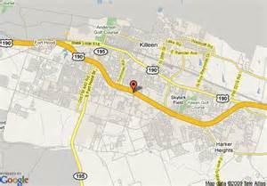map of killeen map of inn killeen fort killeen