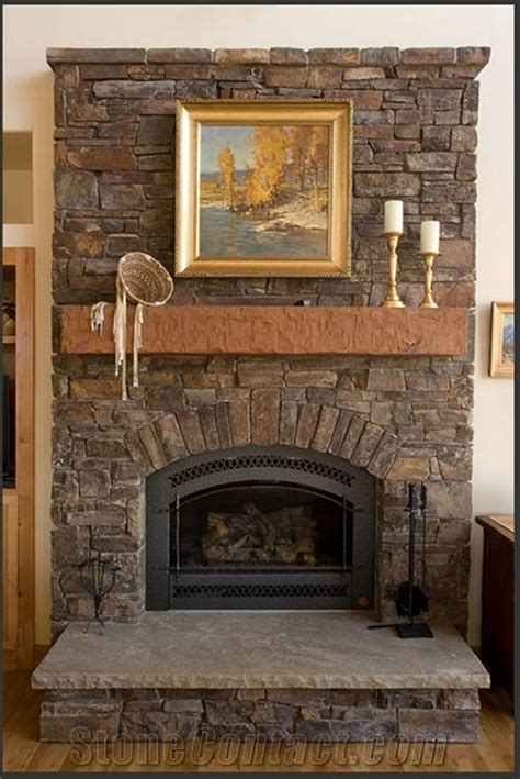 fresh stacked veneer fireplace diy 2157