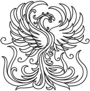 coloring pages phoenix bird coloring pages