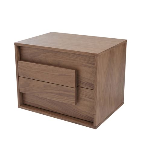 Bedside Tables Median Bedside Table Walnut Dwell