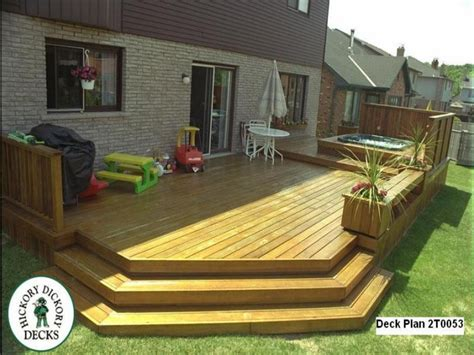 deck plans low level deck designs ground level deck designs large