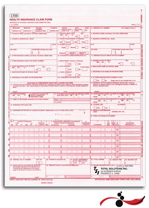 free cms 1500 claim form template free cms 1500 form template 28 images fillable hcfa