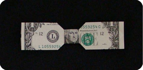 money bow tie make origami