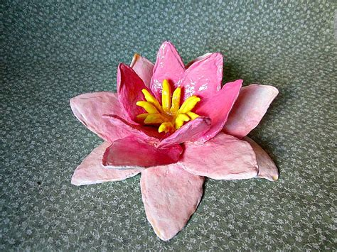 How To Make A Paper Lilly - blossoming water in paper mache by meadowdelights on