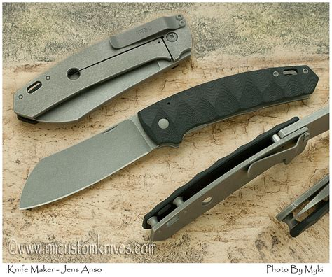 frame lock jens anso quot haddock quot framelock knife available at r m