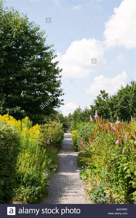 gravel garden path stock photos gravel garden path stock