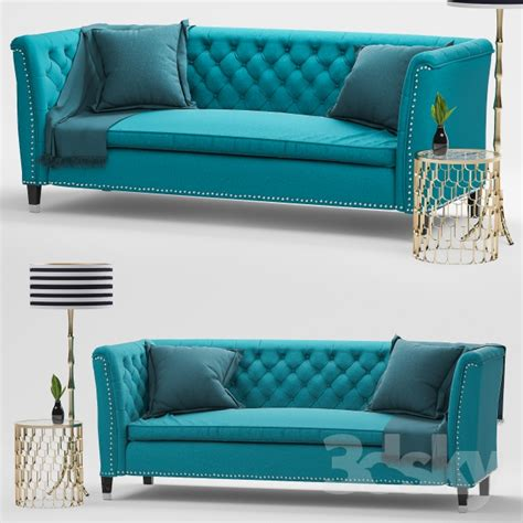 teal velvet sofa 3d models sofa nightingale teal blue velvet sofa