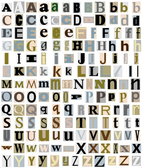 alphabet letters from magazine free stock photo