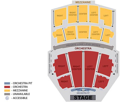 opera house seating plan seating map peabody opera house