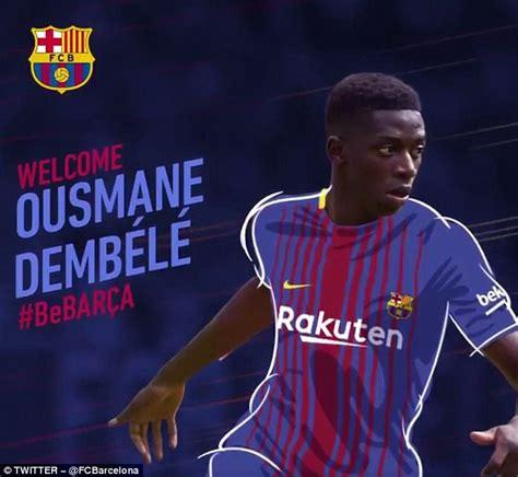 ousmane dembele knee injury barcelona complete signing of ousmane dembele for 163 96m