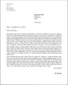 how to write business letter in cover letter