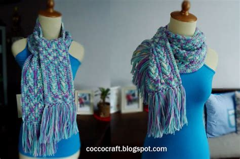 c6b knitting scarf knitting cable simple pattern funcolor craft