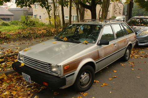 old nissan sentra old parked cars woodgrain wagon 1983 datsun nissan sentra