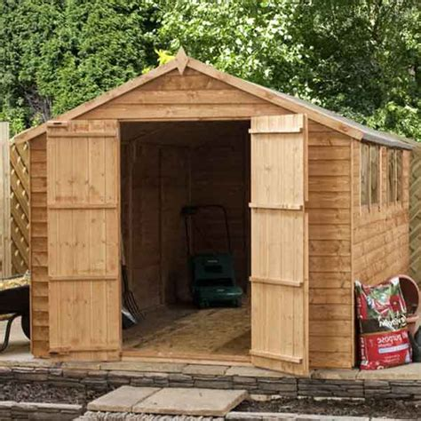 Used Wooden Sheds by 10 X 6 Wooden Garden Shed Apex Large 10ft X 6ft Wood Sheds