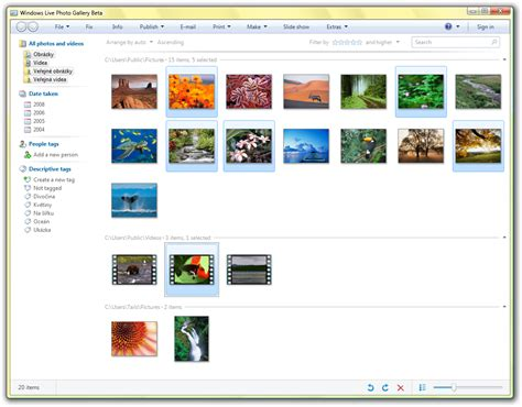 microsoft live themes windows live 3 beta photo gallery gallery