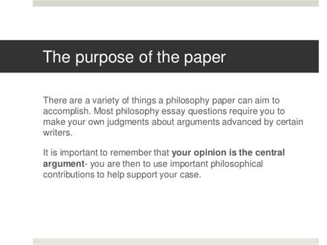 how to write a philosophy paper how to write a philosophy essay