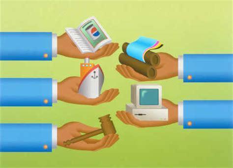 stock illustration hands trading goods