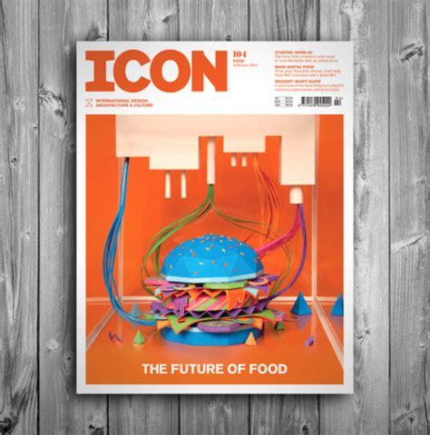 Icon Design Mag | the future of food icon magazine cover