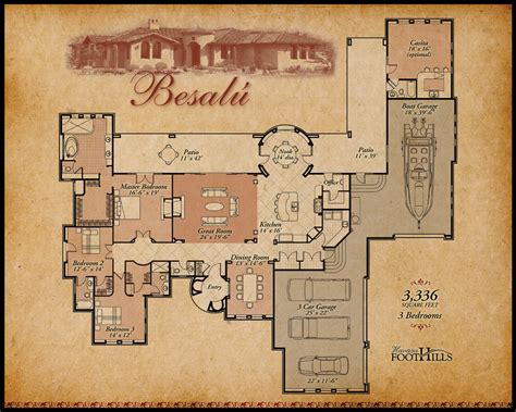 Mexican Hacienda Floor Plans | floor plan hacienda style omahdesigns net