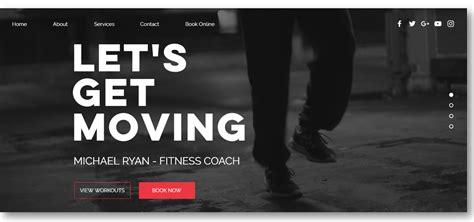 Personal Trainer Website Design 10 Professional Templates For Pts Fitness Trainer Website Templates