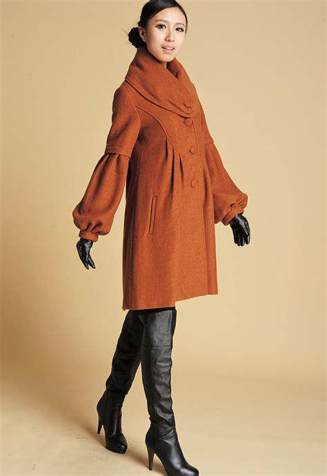 Dress Coat Brown brown jacket wool coat wool jacket winter coat dress