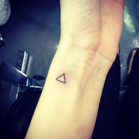 triangle tattoo ink and studs pinterest