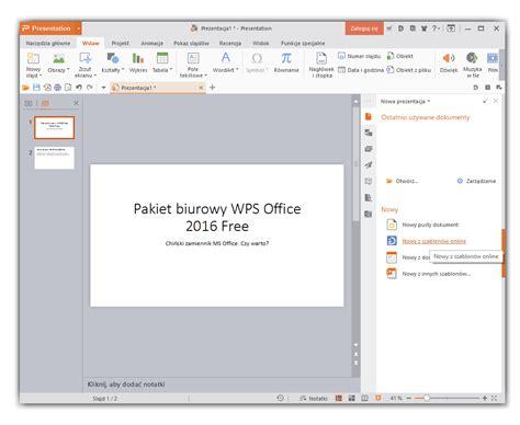 templates for powerpoint wps pakiet biurowy wps office 2016 free czy warto