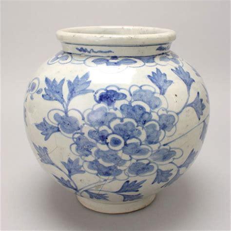 Korea White a korean blue white porcelain jar joseon period