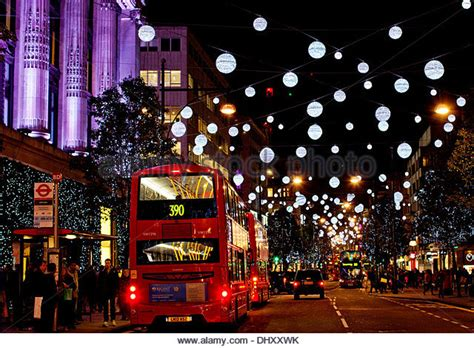 Oxford Street Christmas Lights Stock Photos Oxford Lights In Oxford