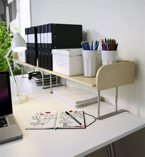 Desk Shelving Ideas Need More Room To Spread Out Let Ikea And A Raised Desktop Shelf Like Galant Give You A