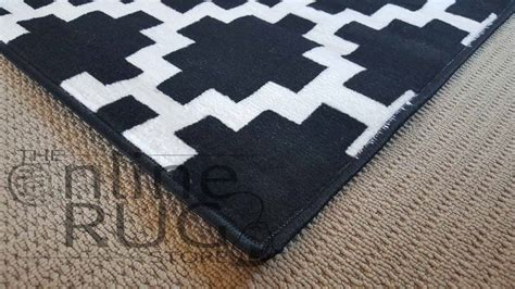 black and rug industry black white geometric the rug store