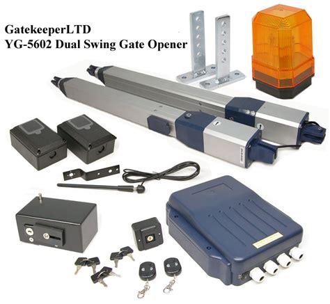 electric swing gate openers new dual swing automatic electric gate opener operator ebay