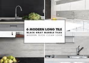 modern backsplash kitchen modern kitchen backsplash ideas black gray tiles