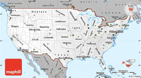 basic map of the united states gray simple map of united states