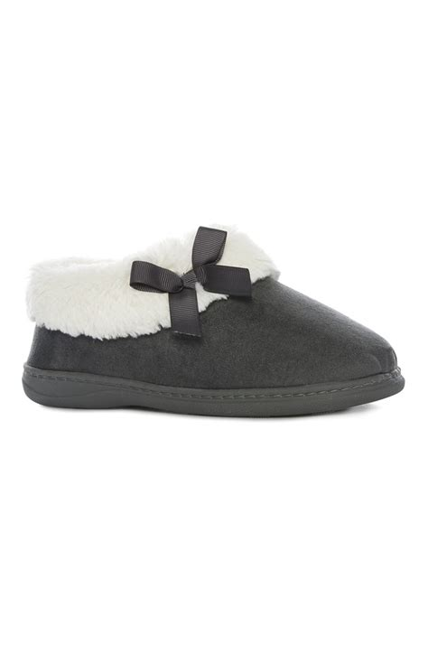 primark slippers a stylish and comfortable grey memory foam slipper for you