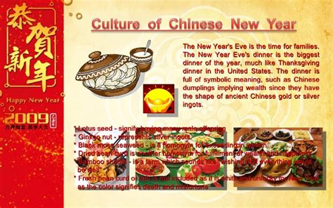 new year food symbolism new year ppt