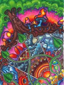 cool colorful drawings psychedelic my and trees on
