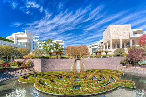 the central garden at the getty center in los angeles