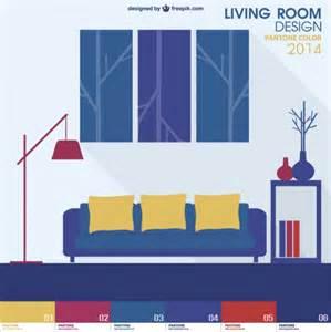 Living Room Flat Design Vector Pantone Design Living Room Vector Vector Free
