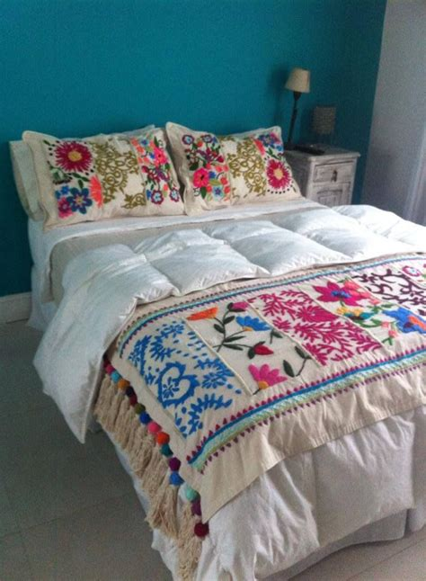 mexican embroidered bedding 48 karam hecho a mano bordados pinterest beautiful