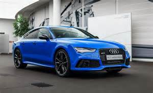 exclusive audi rs7 comes in porsche s voodoo blue color
