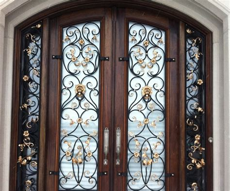 wrought iron front wrought iron front doors boomer more modest iron
