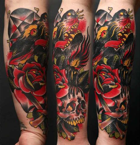 traditional rose tattoo sleeve sleeve ideas on neo traditional