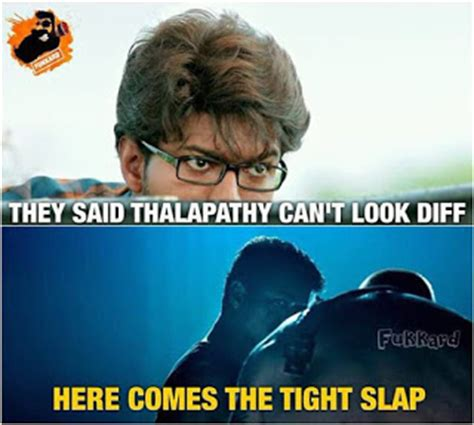 theri film images with quotes vijay theri teaser meme troll celebration and fans made