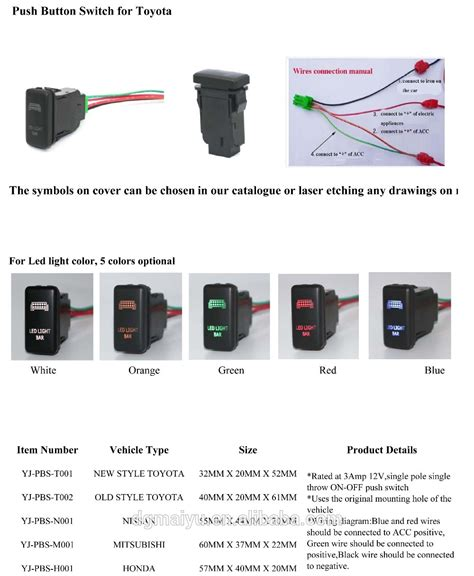 Khimar Fairus Butoon Laser Limited toyota push button switch hilux led driving lights symbol with 2 led buy toyota driving