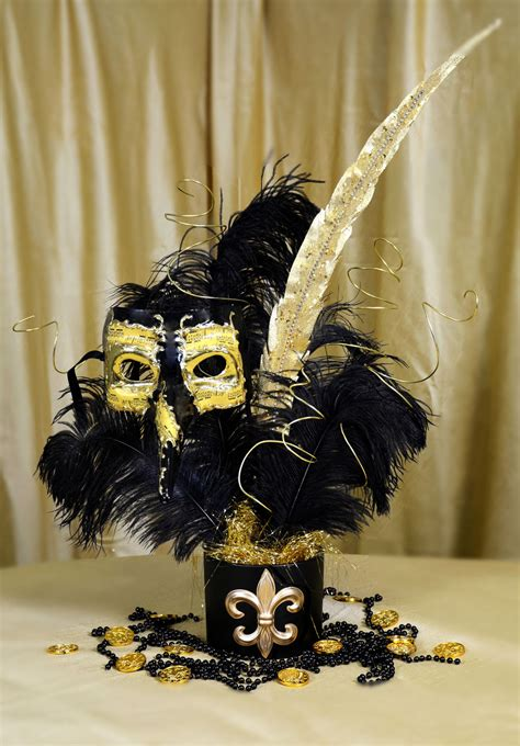 Black Gold Silver Decorations by Ideas By Mardi Gras Outlet Black Gold Masquerade Mask Centerpiece Tutorial