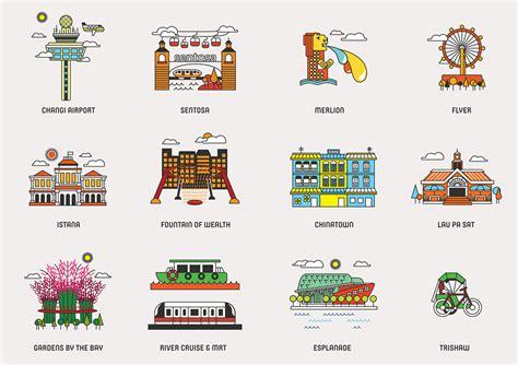 icon design singapore icons of singapore on behance